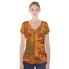 Circuit Short Sleeve Front Detail Top by Zeze