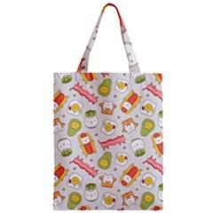 Funny Cat Food Succulent Pattern  Zipper Classic Tote Bag by Mishacat