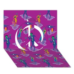 Zombie Pattern Peace Sign 3d Greeting Card (7x5) by AnjaniArt