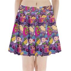 Gpattern Pleated Mini Skirt by AnjaniArt