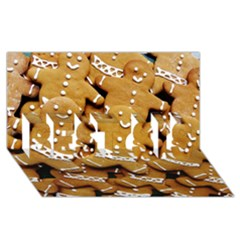 Gingerbread Men Best Sis 3d Greeting Card (8x4) by AnjaniArt