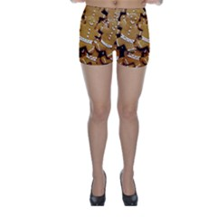Gingerbread Men Skinny Shorts by AnjaniArt