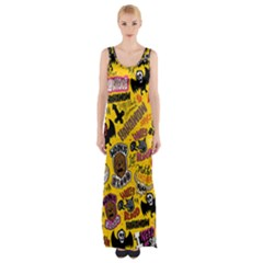 Lolzig Pattern Maxi Thigh Split Dress by AnjaniArt