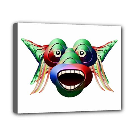 Futuristic Funny Monster Character Face Canvas 10  X 8  by dflcprints