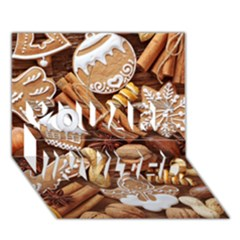 Nuts Cookies Christmas You Are Invited 3d Greeting Card (7x5) by AnjaniArt