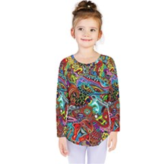 Moster Mask Kids  Long Sleeve Tee by AnjaniArt