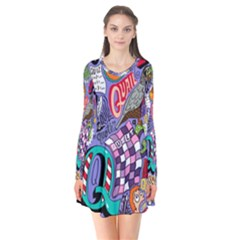 Q Pattern Flare Dress by AnjaniArt