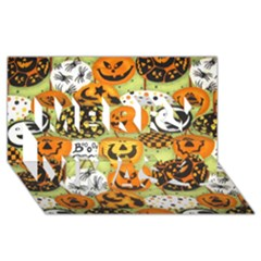 Print Halloween Merry Xmas 3d Greeting Card (8x4) by AnjaniArt