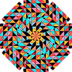 Colorful Abstract Geometric Design Straight Umbrellas by GabriellaDavid
