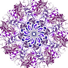 Purple Ornaments Design Straight Umbrellas by GabriellaDavid