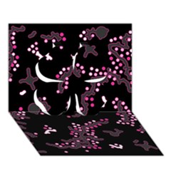 In My Mind   Pink Clover 3d Greeting Card (7x5) by Valentinaart