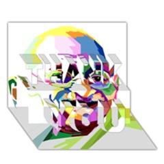 Ghandi Thank You 3d Greeting Card (7x5) by bhazkaragriz