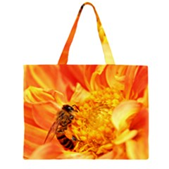 Honey Bee Takes Nectar Large Tote Bag by Zeze