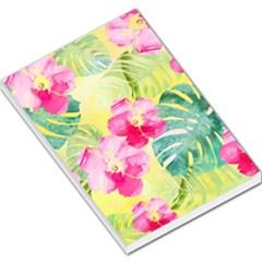 Tropical Dream Hibiscus Pattern Large Memo Pads by DanaeStudio