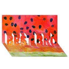 Abstract Watermelon Best Bro 3d Greeting Card (8x4) by DanaeStudio