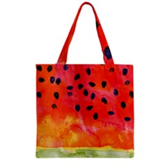 Abstract Watermelon Grocery Tote Bag by DanaeStudio