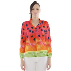 Abstract Watermelon Wind Breaker (women) by DanaeStudio