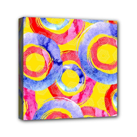 Blue And Pink Dream Mini Canvas 6  X 6  by DanaeStudio