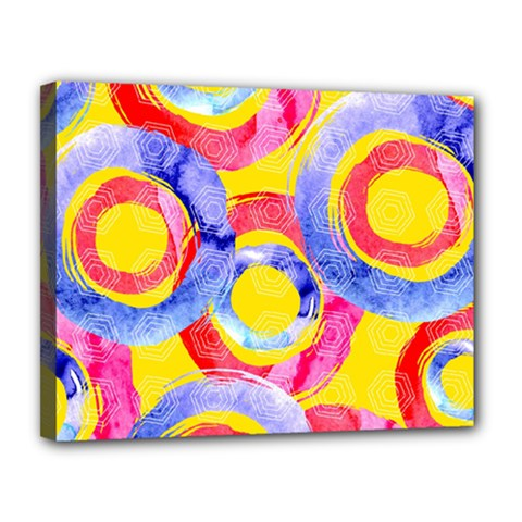 Blue And Pink Dream Canvas 14  X 11  by DanaeStudio