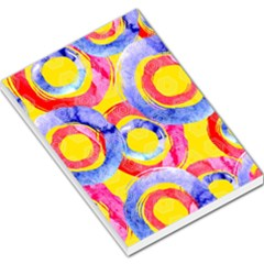 Blue And Pink Dream Large Memo Pads by DanaeStudio