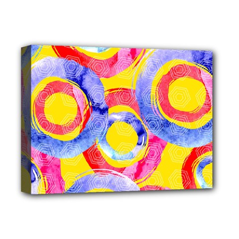 Blue And Pink Dream Deluxe Canvas 16  X 12   by DanaeStudio
