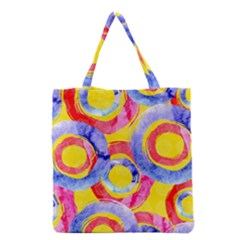Blue And Pink Dream Grocery Tote Bag by DanaeStudio