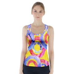 Blue And Pink Dream Racer Back Sports Top by DanaeStudio