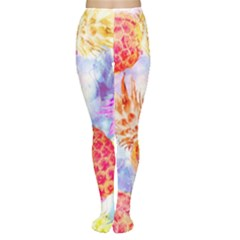 Colorful Pineapples Over A Blue Background Women s Tights by DanaeStudio