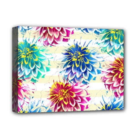 Colorful Dahlias Deluxe Canvas 16  X 12   by DanaeStudio