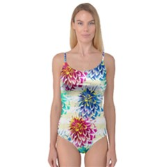 Colorful Dahlias Camisole Leotard  by DanaeStudio