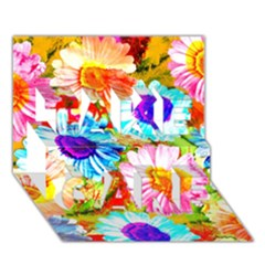 Colorful Daisy Garden Take Care 3d Greeting Card (7x5) by DanaeStudio