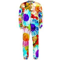 Colorful Daisy Garden Onepiece Jumpsuit (men)  by DanaeStudio