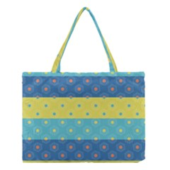 Hexagon And Stripes Pattern Medium Tote Bag by DanaeStudio