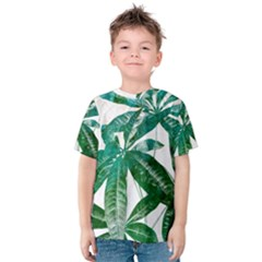 Pachira Leaves  Kids  Cotton Tee by DanaeStudio
