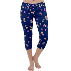 Playful Confetti Capri Yoga Leggings by DanaeStudio