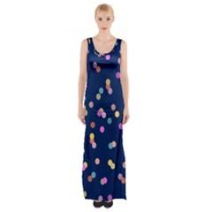 Playful Confetti Maxi Thigh Split Dress by DanaeStudio