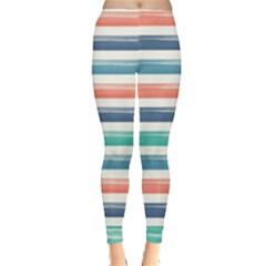 Summer Mood Striped Pattern Leggings  by DanaeStudio