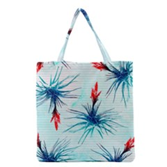 Tillansia Flowers Pattern Grocery Tote Bag by DanaeStudio