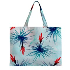 Tillansia Flowers Pattern Zipper Mini Tote Bag by DanaeStudio