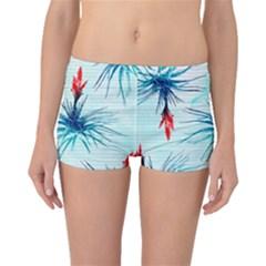 Tillansia Flowers Pattern Boyleg Bikini Bottoms by DanaeStudio