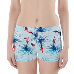 Tillansia Flowers Pattern Boyleg Bikini Wrap Bottoms by DanaeStudio