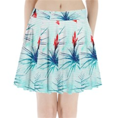 Tillansia Flowers Pattern Pleated Mini Skirt by DanaeStudio