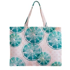 Turquoise Citrus And Dots Mini Tote Bag by DanaeStudio