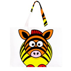 Rainbow Zebra Vector  Large Tote Bag by Zeze