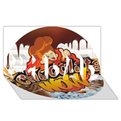Chocolate Wow #1 Dad 3d Greeting Card (8x4) by Onesevenart