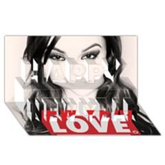 Sasha Grey Love Happy New Year 3d Greeting Card (8x4) by Onesevenart