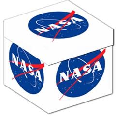 Nasa Logo Storage Stool 12   by Onesevenart
