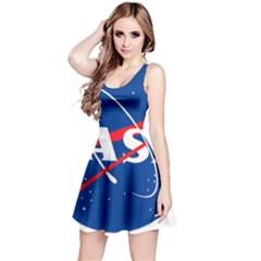 Nasa Logo Reversible Sleeveless Dress by Onesevenart