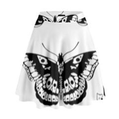 Harry Styles Tattoos High Waist Skirt by Onesevenart