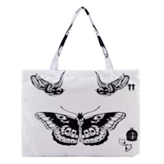 Harry Styles Tattoos Medium Tote Bag by Onesevenart